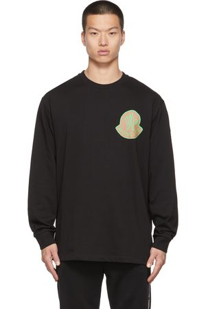 Moncler Genius Men Long Sleeve - 2 Moncler 1952 Black Logo Long Sleeve T-Shirt