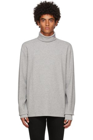Polo Ralph Lauren Men Turtlenecks - Grey Double Knit Sport Turtleneck