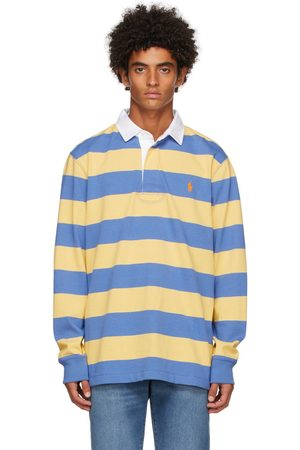 Polo Ralph Lauren Men Polo Shirts - & Blue Rugby Long Sleeve Polo