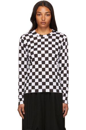 Comme des Garçons Women Long Sleeve - Jersey Check Long Sleeve T-Shirt