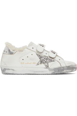 Golden Goose Women Sneakers - Shearling & Glitter Old School Sneakers