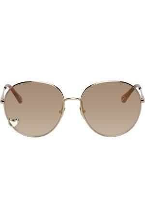 Chloé Women Round - Gold Aimee Round Sunglasses