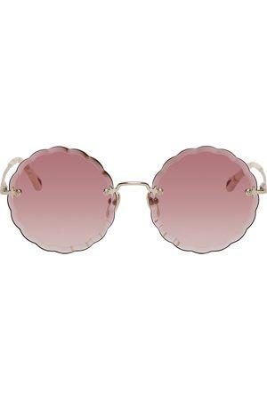 Chloé Gold Rosie Round Sunglasses