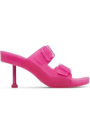 Balenciaga Women Heeled Sandals - Pink Rubber Mallorca Heeled Sandals
