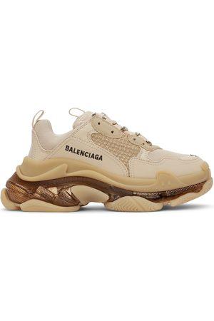 Balenciaga Women Sneakers - Beige Clear Sole Triple S Sneakers