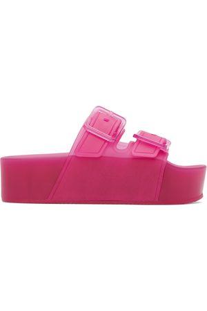 Balenciaga Women Platform Sandals - Pink Rubber Platform Mallorca Sandals