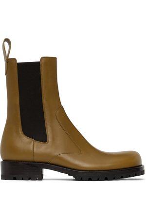 DRIES VAN NOTEN Men Chelsea Boots - Yellow Leather Chelsea Boots