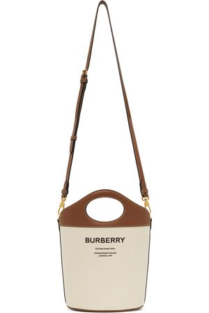 Burberry Women Tote Bags - Small Canvas Pocket Bucket Bag
