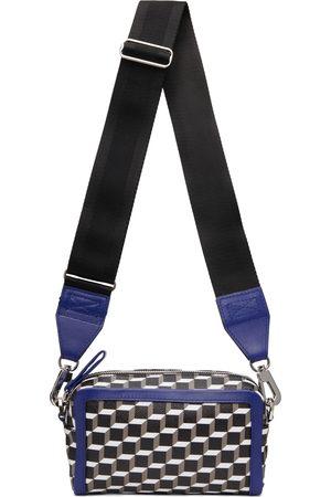 Pierre Hardy Men Luggage - Blue & Black Cube Box Bag