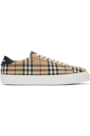 Burberry Men Sneakers - Leather Archive Low Sneakers