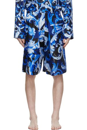 VERSACE Men Shorts - Blue Baroccoflage Shorts