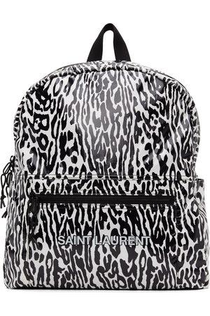 Saint Laurent Men Luggage - Zebra Ripstop Print Nuxx Backpack