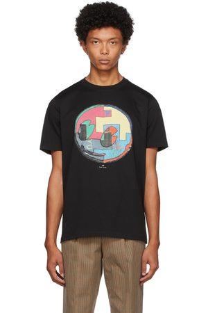 Paul Smith Men T-shirts - Black Circle Smile T-Shirt