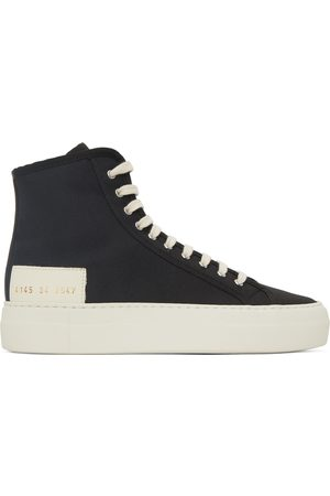 COMMON PROJECTS Women Sneakers - Black & Off-White Tournament High Sneakers