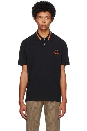 Paul Smith Men Polo Shirts - Black & Orange Happy Polo