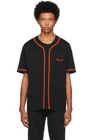 Paul Smith Men Short sleeves - Black & Orange Happy Baseball Short Sleeve Shirt