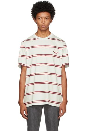 Paul Smith Men T-shirts - Off-White & Red Happy T-Shirt