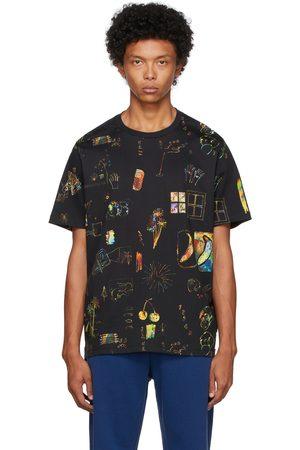 Paul Smith Men T-shirts - Black Dreamscape T-Shirt