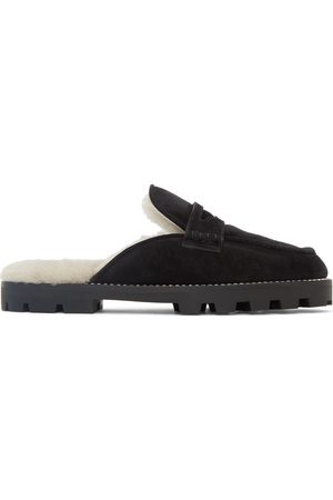 Jimmy Choo Women Loafers - Black Suede Ronnie Slip-On Loafers