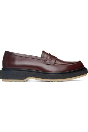 ADIEU PARIS Men Loafers - Burgundy Classic Type 5 Loafers
