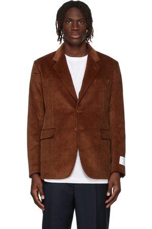 Etudes Men Blazers - Brown Wool Corduroy Plane Blazer