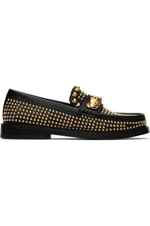 Moschino Women Loafers - Black Teddy Stud Loafers
