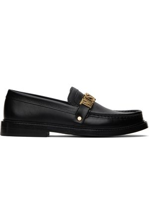 Moschino Women Loafers - Black Logo Hardware Loafers