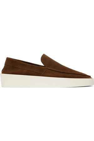 FEAR OF GOD Men Loafers - Brown & Off-White Suede 'The Loafer' Loafers