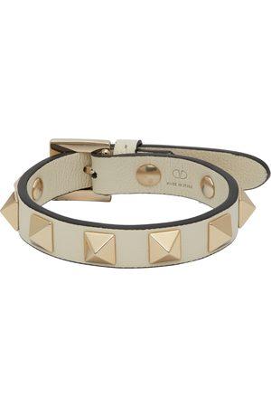 VALENTINO GARAVANI Women Bracelets - White Rockstud Bracelet