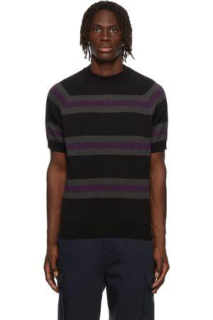 Noah NYC Men Short sleeves - Striped Short Sleeve Sweater