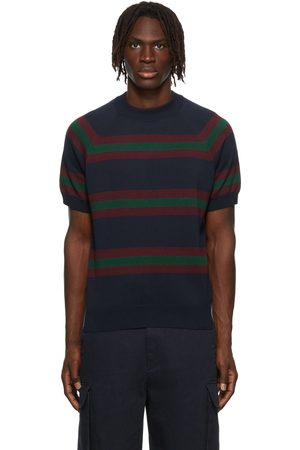 Noah NYC Striped Short Sleeve Sweater