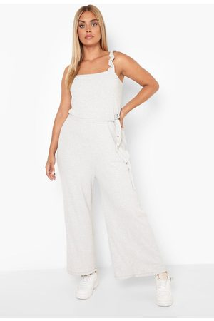 Boohoo Womens Plus Recycled Ruffle Strap Culotte Jumpsuit - - 12