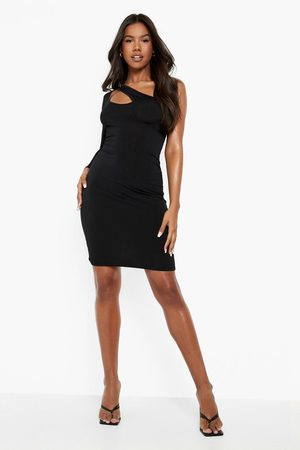 Boohoo Women Party Dresses - Womens Slinky Rouched Asymetric Mini Dress - - 4