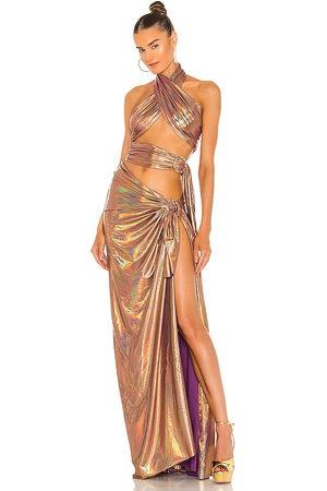Bronx and Banco Women Maxi Dresses - X REVOLVE Cleopatra Neon Dress in Metallic Bronze.