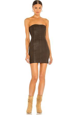 SPRWMN Strapless Dress in Brown.