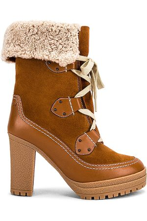 See by Chloé Verena Shearling Lined Boot in Tan.
