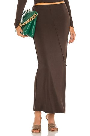 The Line By K Vana Skirt in Chocolate.