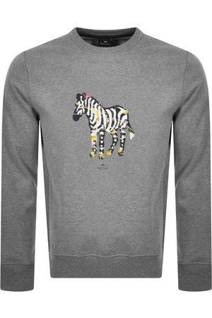 Paul Smith Men Sweatshirts - PS By Zebra Logo Sweatshirt Grey
