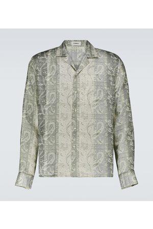 COMMAS Men Long sleeves - Long-sleeve silk-blend shirt