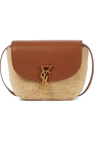 Saint Laurent Kaia shearling and leather shoulder bag