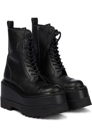 JUNYA WATANABE Women Heeled Boots - Platform leather combat boots