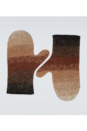 ERL Men Gloves - Gradient wool-blend mittens