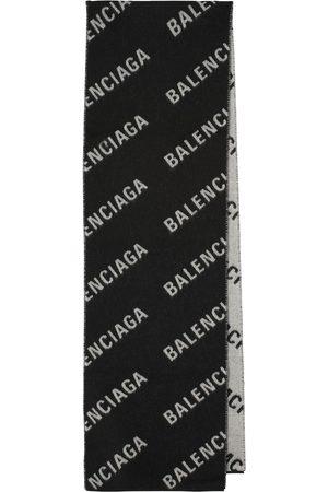 Balenciaga Women Scarves - Logo wool scarf