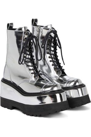 JUNYA WATANABE Platform leather combat boots