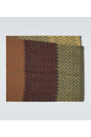 Missoni Men Scarves - Wool-blend chevron scarf