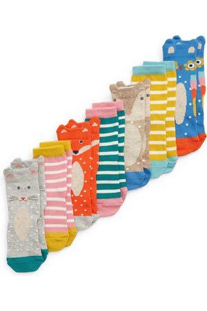 Boden Girls Socks - Toddler Girl's Kids' Assorted 7-Pack Sock Box