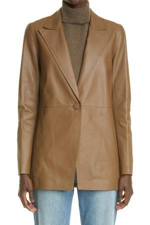 Lafayette 148 New York Women's Steele Plonge Lambskin Leather Blazer