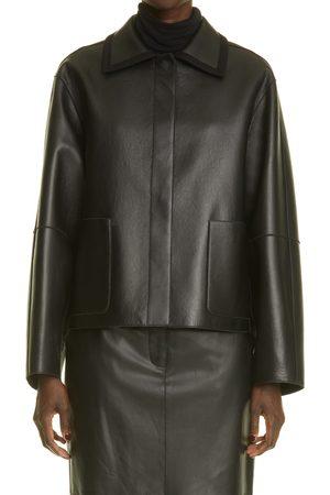 Lafayette 148 New York Women's Keegan Reversible Plonge Leather & Wool Jacket