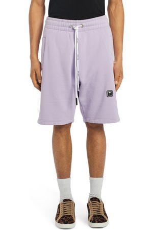 Palm Angels Men Bermudas - Men's Logo Patch Cotton Bermuda Sweat Shorts