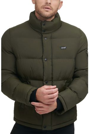 Levi's Men's Solid Water Resistant Nylon Puffer Jacket